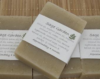 Sage Garden Soap Set of Four 4 oz Bars