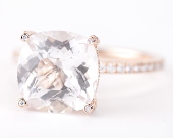 Certified Gia Certified Oval Peach Pink Morganite Amp Diamond