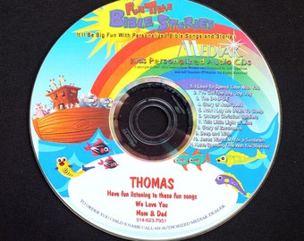 Fun Times Bible Stories - A Fun Personalized CD With Your Child's Name In Each Track.  Bible Songs and Bible Stories With Your Child's Name