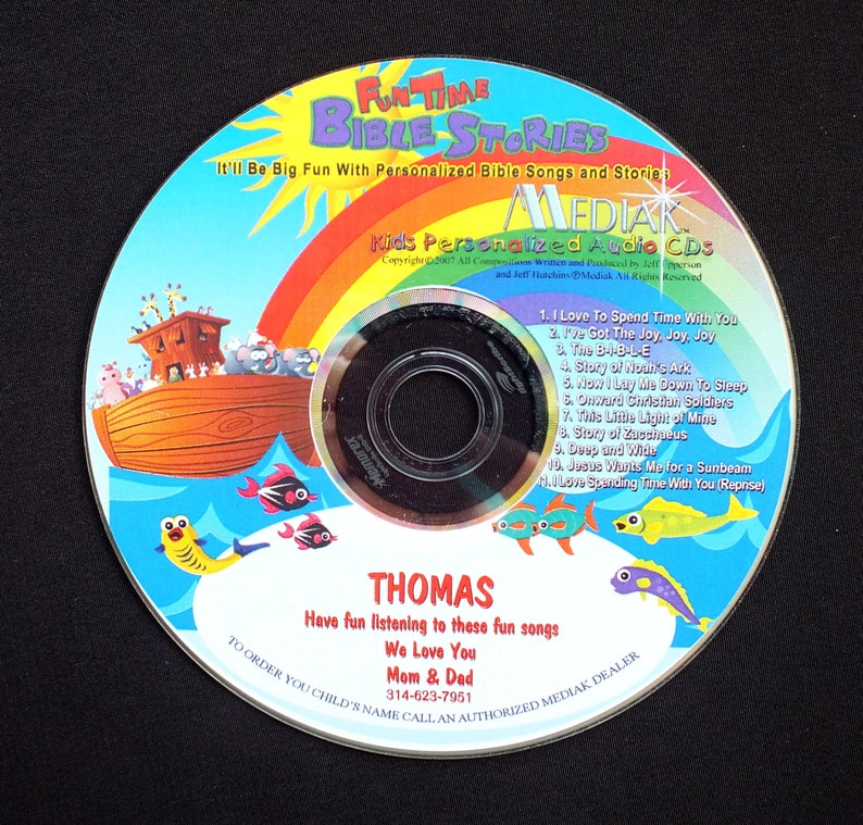 376ae88ad51c6 Fun Times Bible Stories - A Fun Personalized CD With Your Child's Name In  Each Track. Bible Songs and Bible Stories With Your Child's Name