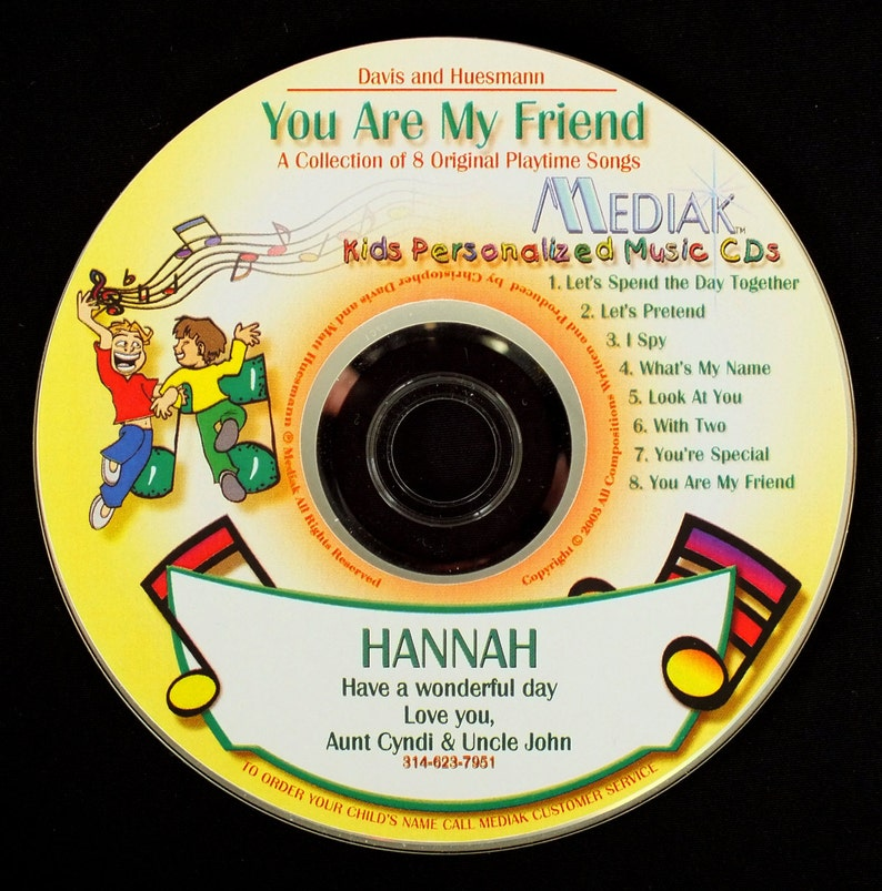 f20d3f428c5d7 You Are My Friend Personalized CD for Children - Name Used 98 Xs Throughout  This Fun Loving, Upbeat CD. Makes a GREAT Gift, unique gift