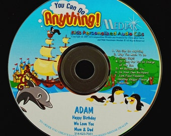 You Can Do Anything Personalized DVD - Child's Name Used 106 Times in this Lively DVD - Now they can watch their own movie