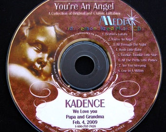 Personalized Lullaby CD - You're An Angel - Lullaby Songs With Your Child's Name - Perfect Baby Shower Gift for Newborns and babies