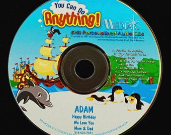You Can Do Anything Personalized CD - Your Child's Name Used 106 Xs in This Lively & Fun CD.  Songs that'll make you want to dance