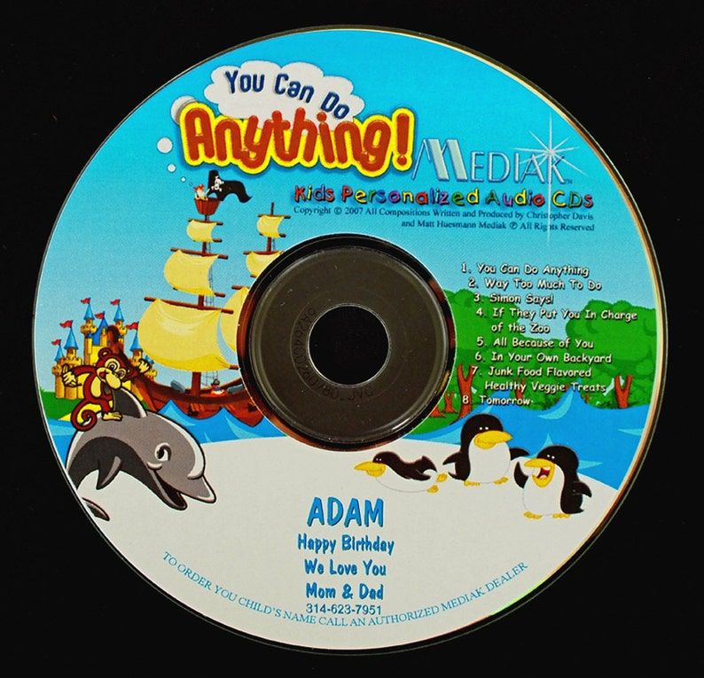 You Can Do Anything Personalized CD  Your Child's Name image 0