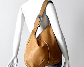 vintage boho leather shoulder bag