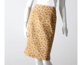 vintage 60s floral pencil skirt