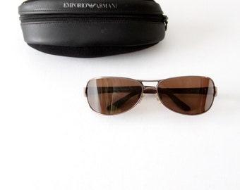 b1eb05e5e51de0 Vintage Emporio Armani Sonnenbrille, Doppelbrücke getönte Brille