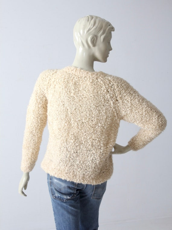 vintage 60s mohair sweater, Sears Italian knit cr… - image 4