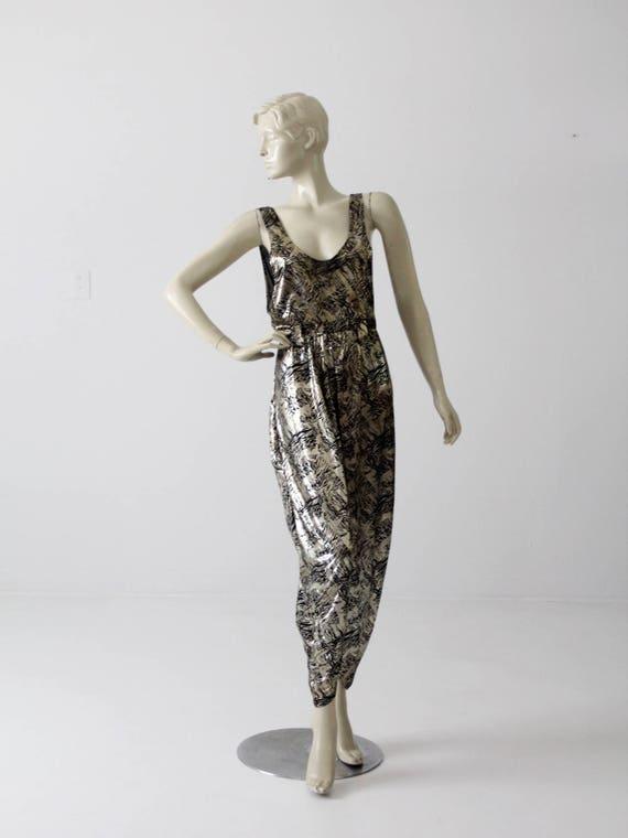 vintage 80s metallic jumper, slinky disco harem ju