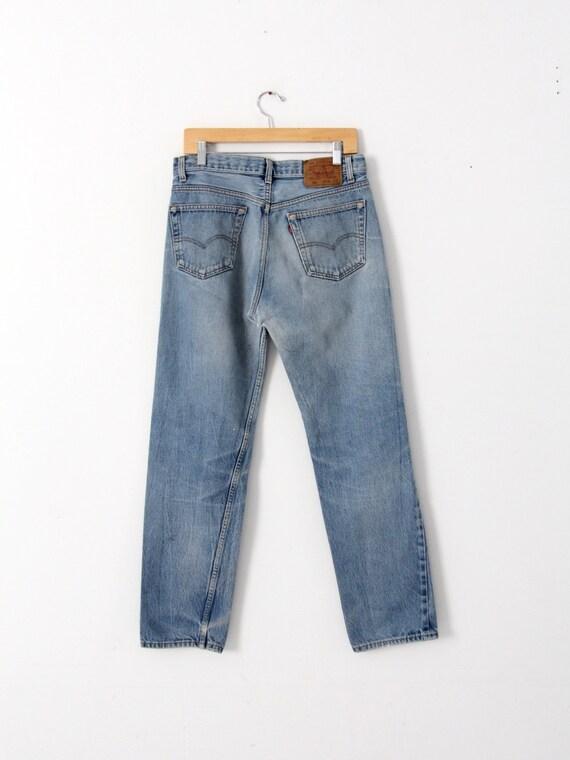 vintage 501 Levi's denim jeans, distressed Levis … - image 3