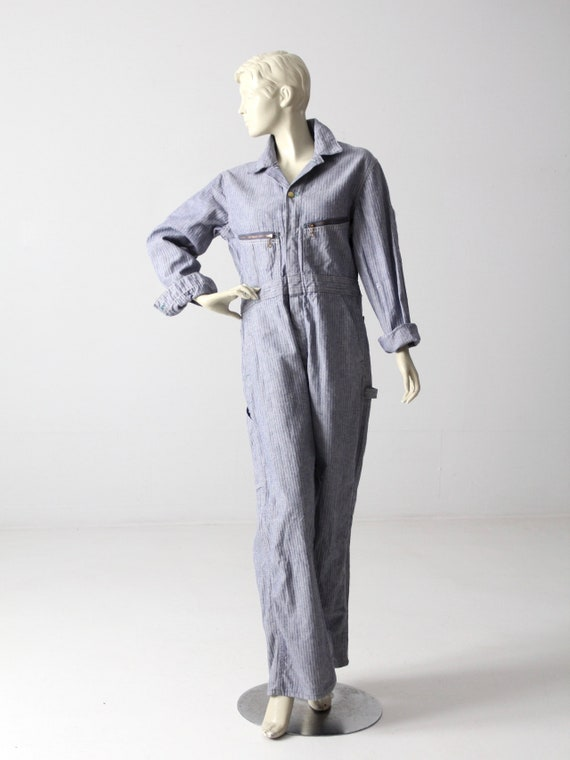 vintage Key coveralls, 1960s denim jumpsuit