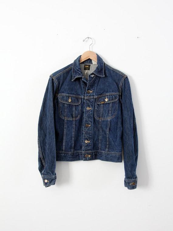 1970s Lee denim jacket ptd 153438, vintage jean ja