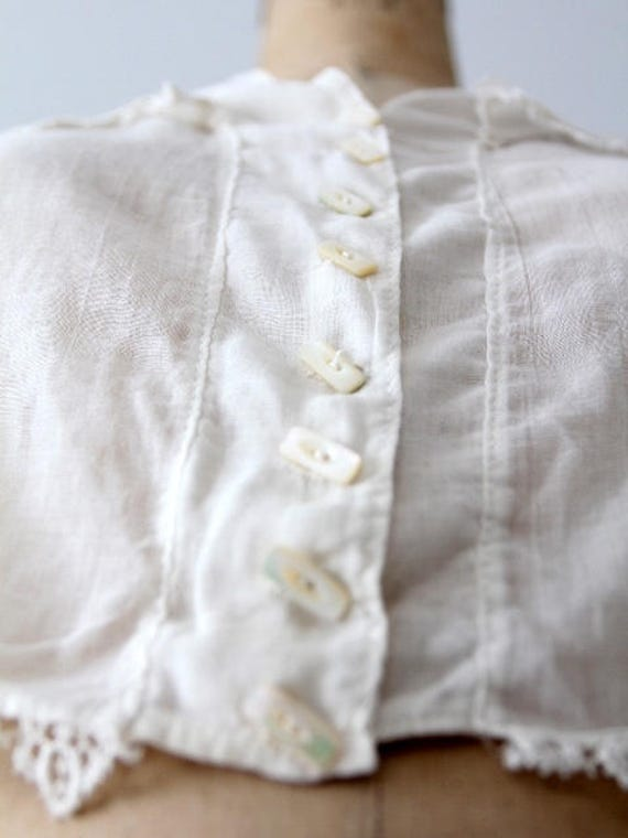 1900s blouse, Victorian white top, antique cotton… - image 7