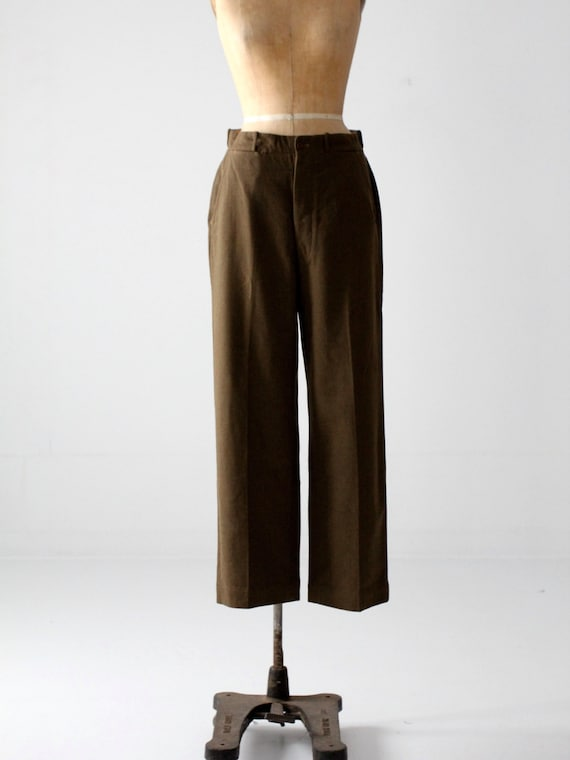 vintage wool army pants, US Army field trousers