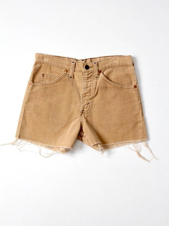 vintage corduroy shorts, Plain Pockets cord shorts