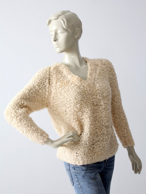 vintage 60s mohair sweater, Sears Italian knit cr… - image 1