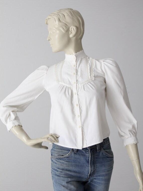 vintage Gunne Sax Jeunes Filles blouse, romantic w