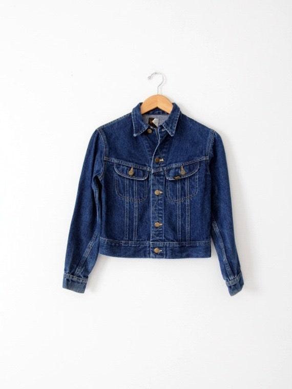 vintage 70s Lee denim jacket, small American jean… - image 2