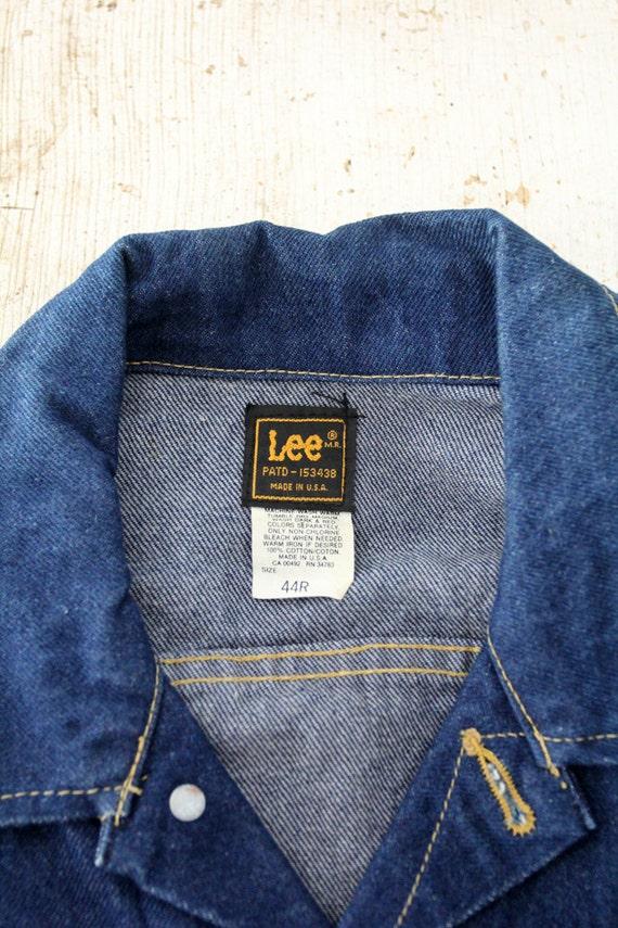 1970s Lee denim jacket,  Lee Sanforized PATD-1534… - image 5