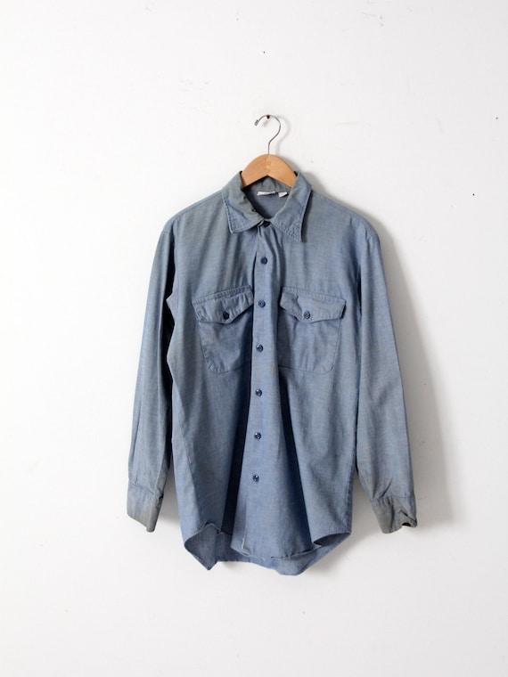 vintage Seafarer men's chambray utility shirt