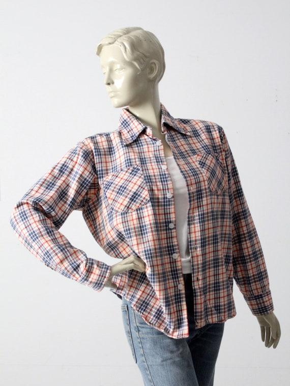 vintage plaid button up shirt - image 7