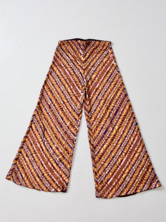vintage Missoni pants, knit sequin wide leg pant - image 2