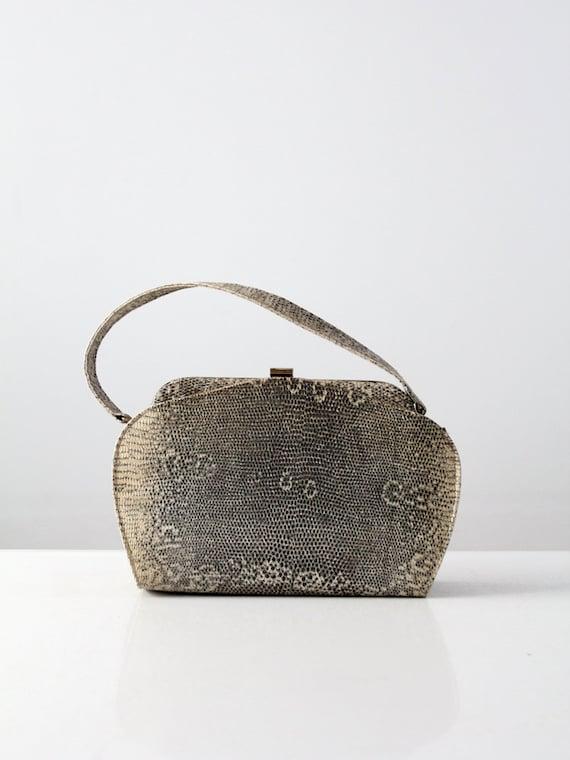 1940s monitor lizard skin handbag