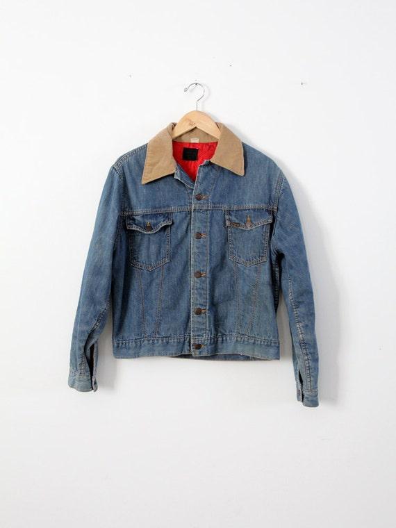 1960s Sears Roebucks denim jacket, insulated denim