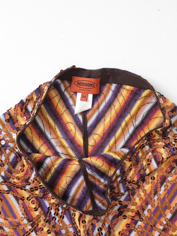 vintage Missoni pants, knit sequin wide leg pant - image 5