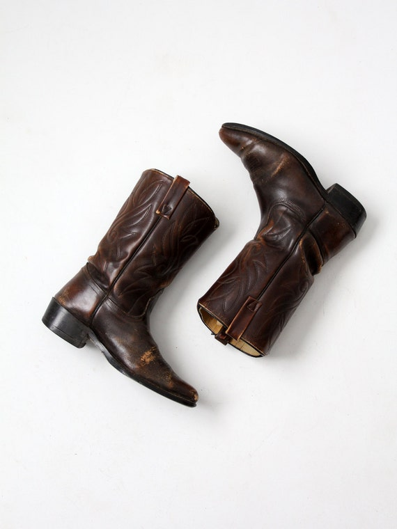 vintage leather western boots by Acme, men's size