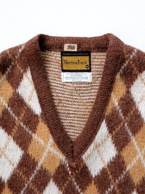 vintage mohair sweater vest, argyle vest - image 7