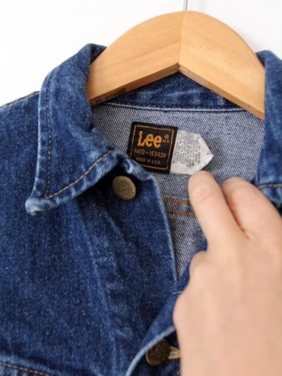 vintage 70s Lee denim jacket, small American jean… - image 5