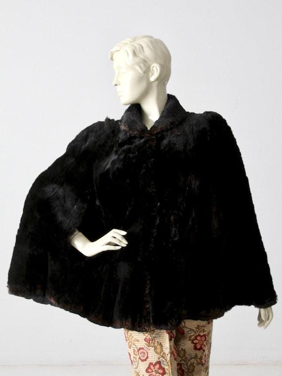 antique fur cape
