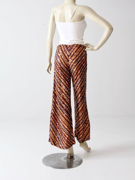 vintage Missoni pants, knit sequin wide leg pant - image 6