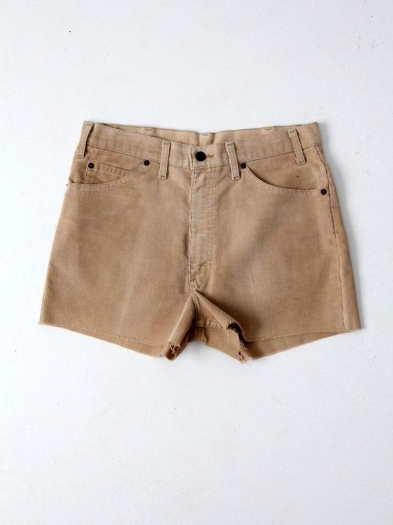 Levi's corduroy shorts, vintage cut offs, waist 34