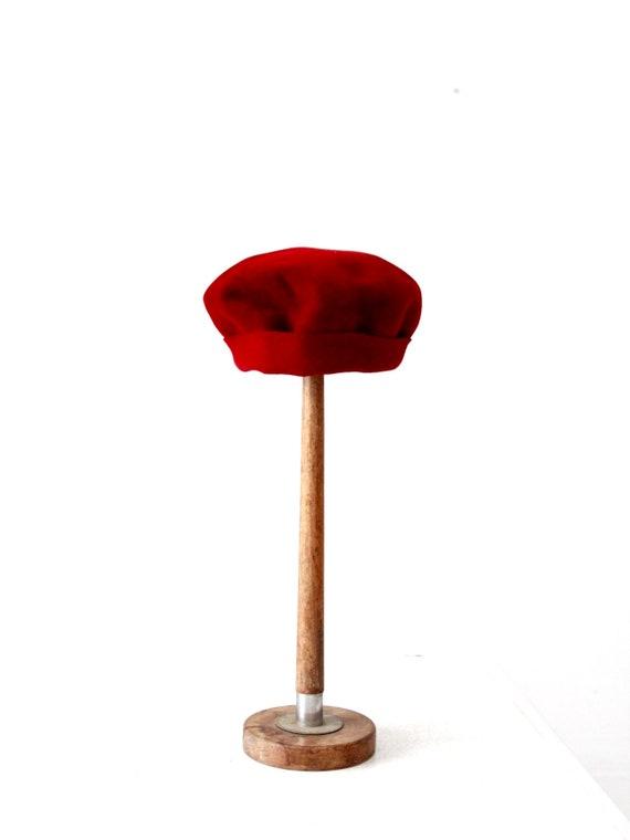 vintage 50s red hat, G.Rossi beret