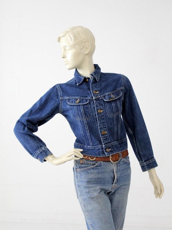 vintage 70s Lee denim jacket, small American jean