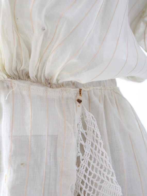 Edwardian tea dress, 1900s ivory dress - image 8
