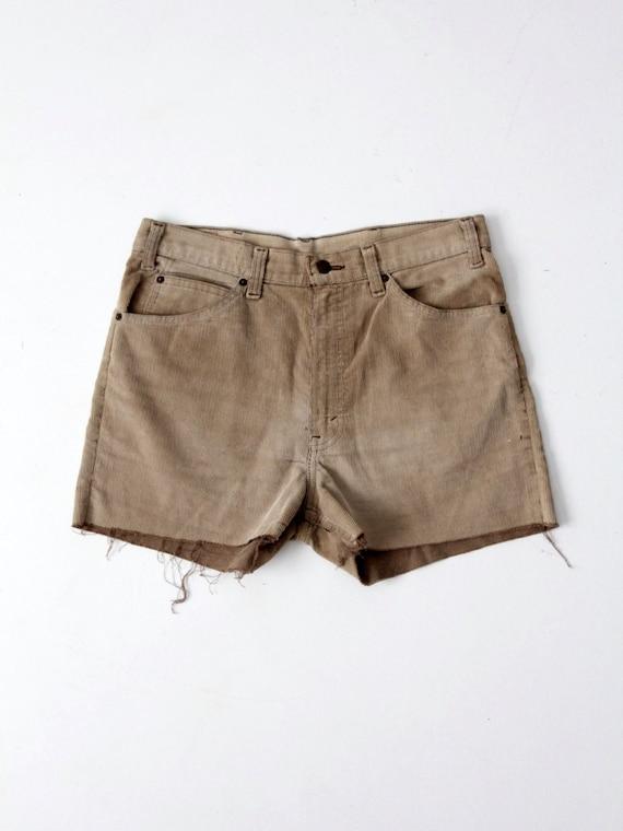 vintage Levi's corduroy shorts, cord cut offs, wai