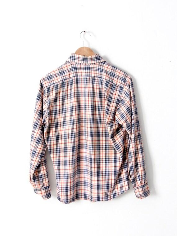 vintage plaid button up shirt - image 4