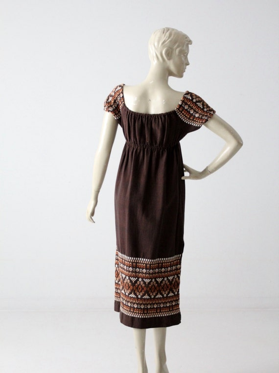 vintage 70s embroidered peasant dress - image 5
