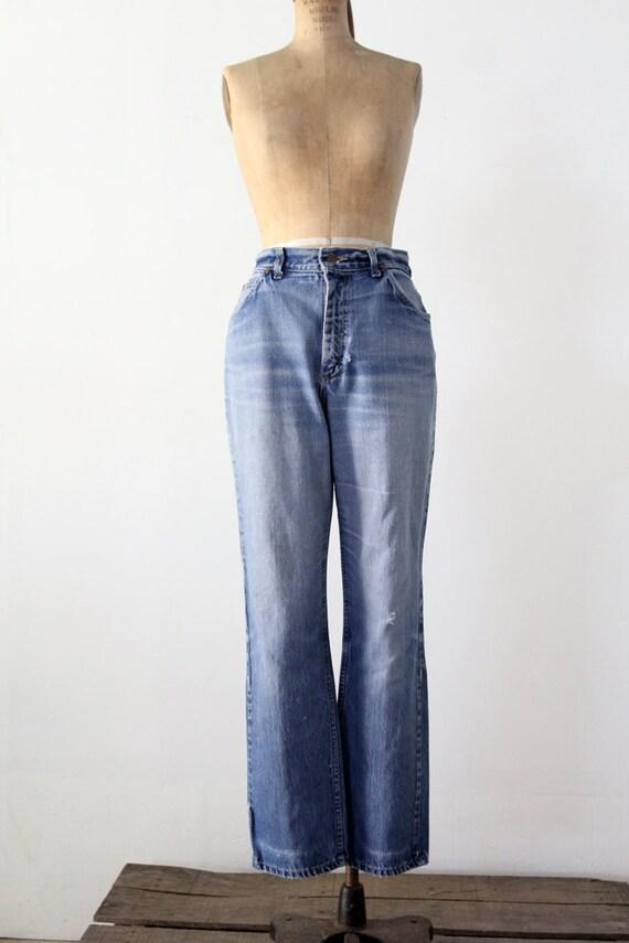1970s high waist Lee jeans, vintage blue jeans, w… - image 4