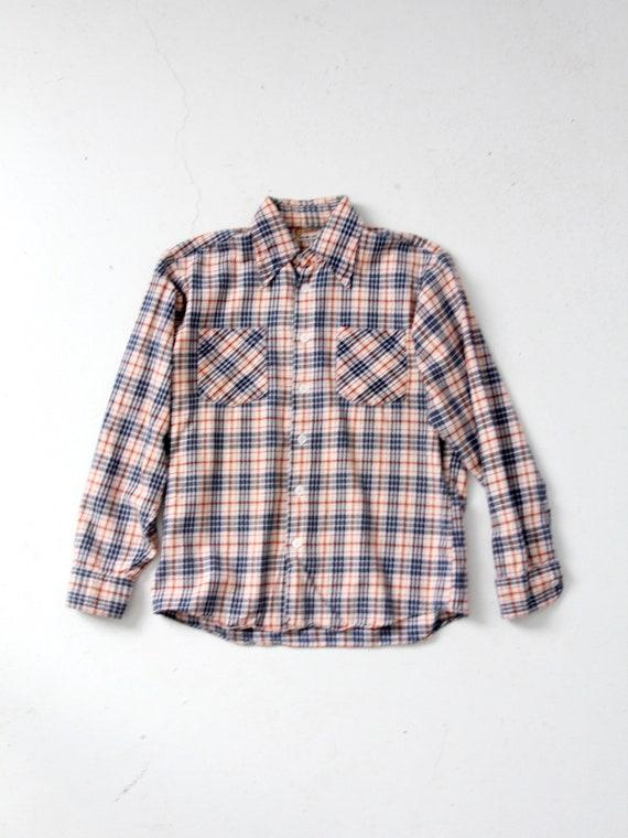 vintage plaid button up shirt - image 1