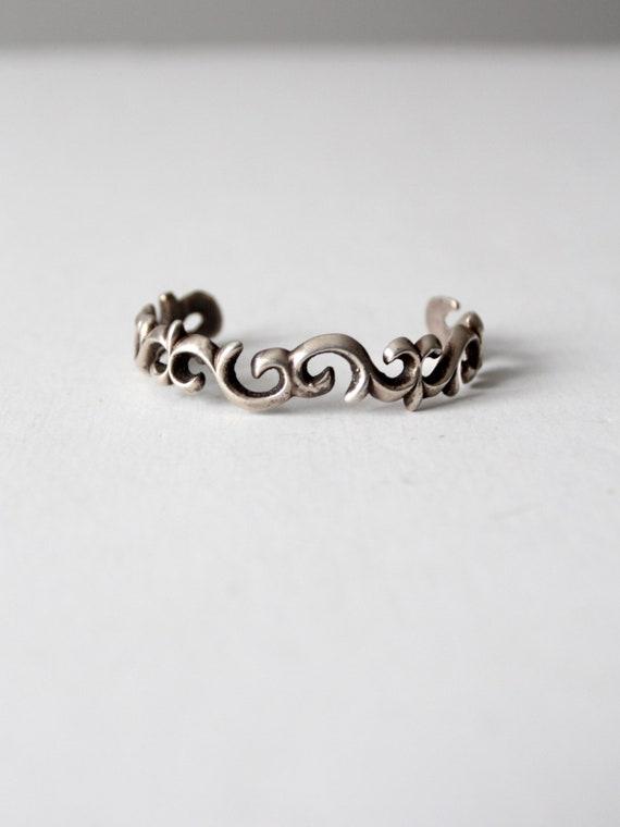 vintage brutalist cuff bracelet