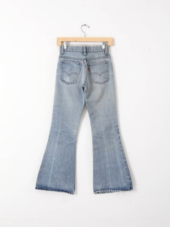 Levi's bell bottoms, vintage 70s jeans, 26 x 30 - image 2