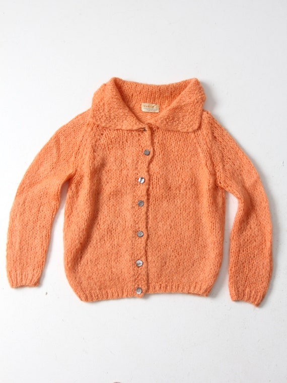 vintage mohair cardigan, 50s  Italian sweater