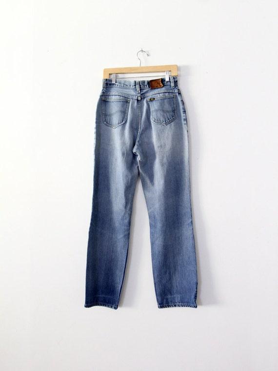 1970s high waist Lee jeans, vintage blue jeans, w… - image 5