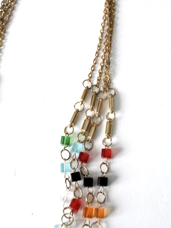 vintage multi chain beaded necklace - image 6