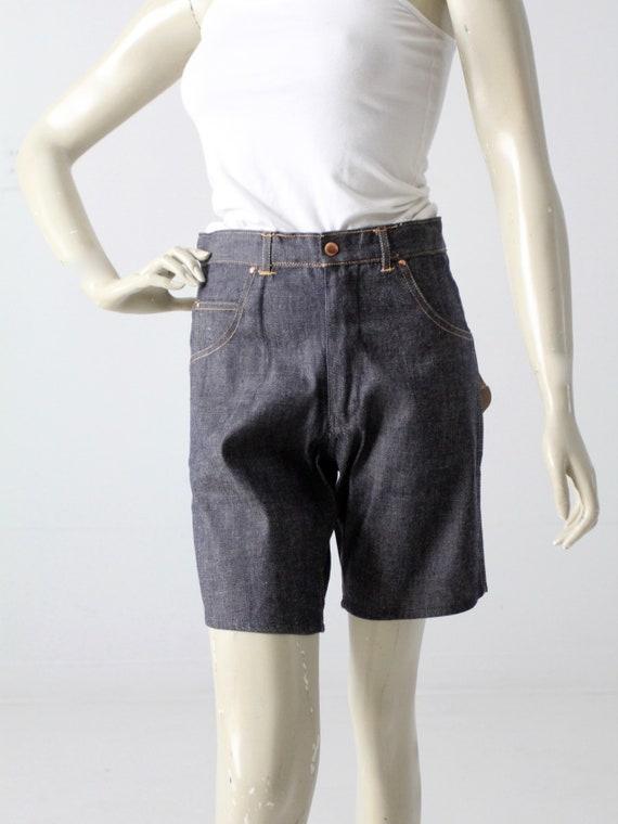 vintage 1960s denim shorts, Saddle Busters jorts,